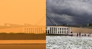 These photos were taken just two weeks apart. This is the climate crisis in acti...