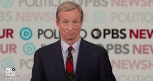 WATCH: On climate change, Steyer says, 'Our biggest crisis is our biggest opportunity'