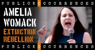'Climate Emergency' - Amelia Womack from Green Party at Extinction Rebellion Protest