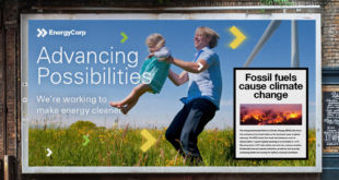 Example fossil fuel ads with warning following ClientEarth complaint against BP.
