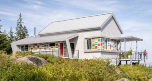 Colorful, solar-powered island home is inspired by local fishermen's buoys