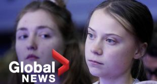 "Greta Thunberg hosts World Economic Forum debate on ""averting a climate apocalypse"""