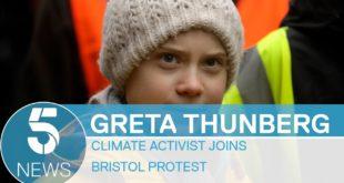 Greta Thunberg visits Bristol as students skip school for climate change strike | 5 News