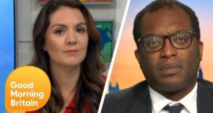 Laura Tobin Interrupts Kwasi Kwarteng Whilst Discussing Climate Emergency | Good Morning Britain