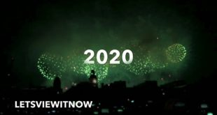 London Eye's Fireworks Happy New Year 2020 All Smoke, Climate Emergency, Running Out Of Time