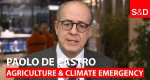 Paolo De Castro on Agriculture and Climate Emergency