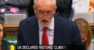 UK Parliament declares climate change emergency