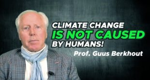 """""""Climate change is not caused by humans. There is no climate emergency."""" - Guus Berkhout"""