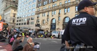 30 Arrests Chant ' Earth Is On Fire' CLIMATE EMERGENCY #RiseAndResist 5th Ave NYC 9/25/19