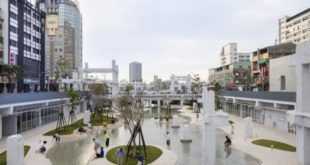 An old mall becomes an urban lagoon and public square in central Tainan