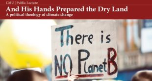 And His Hands Prepared the Dry Land: political theology of climate change