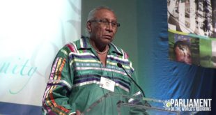 Chief Arvol Lookinghorse Talks Climate Change at the 2015 Parliament