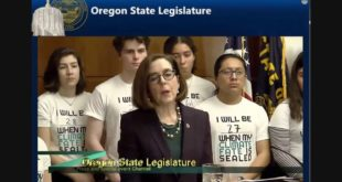 Governor Kate Brown holds press conference on climate change