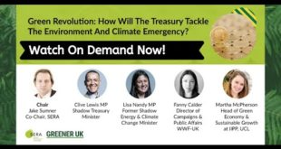 Green Revolution - How Will The Treasury Tackle The Environment & Climate Emergency?