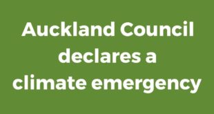 New Zealand - Auckland Council declares a climate emergency