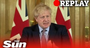 PM Boris Johnson tells 1.4m they must stay home for 12 WEEKS - REPLAY