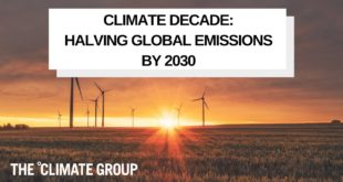 Climate Decade: Halving Global Emissions by 2030 Webinar