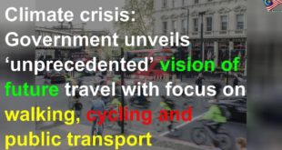 Climate crisis: Government unveils 'unprecedented' vision of future travel with focus on walking, c