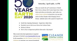 Earth Day 2020 - Cleaner Contra Costa Challenge