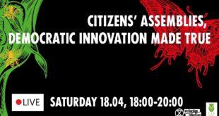FR: Citizens' Assemblies, democratic innovation made true | AIR 18.04.2020