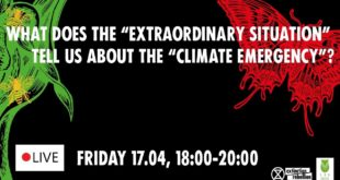 """FR: What does the """"Extraordinary situation"""" tell us about the """"Climate Emergency""""? 