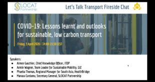 Fireside Chat: COVID-19 - Lessons learnt and outlooks for sustainable, low carbon transport