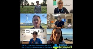 Frontline doctors speak out on Covid19 and climate change