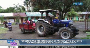 Greenpeace PH hinikayat si Pangulong Duterte na magdeklara ng climate emergency