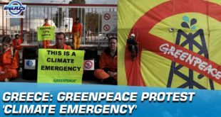 Greenpeace protest 'climate emergency' | Indus News