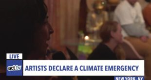 LIVE: Artists are declaring a climate emergency! #ZeroBy2030