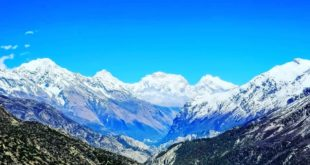 People can see the snow-capped peaks of the Himalayas from Punjab after pollutio...
