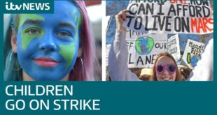 Students go on strike from school in climate change protest   ITV News