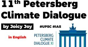 11th Petersberg Climate Dialogue, What is India's contribution in the Dialogue? Current Affairs 2020
