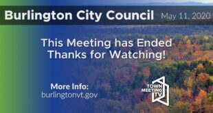 5/11/2020 - 5:30pm Burlington Board of Finance & 7:00pm Burlington City Council