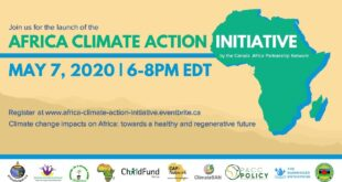 Africa Climate Action Initiative Launch Event - May 7 at 6 pm EDT