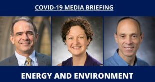 COVID-19 Media Briefing: Energy and Environment