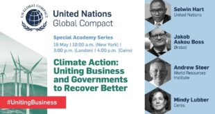 Climate Action: Uniting Business and Governments to Recover Better