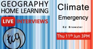 Climate Emergency with Ed Brewster ╎ Live interview╎Geography home learning