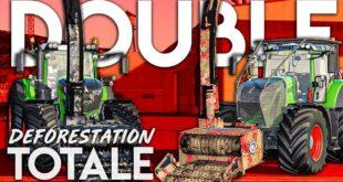 DEFORESTATION TOTALE #18   DOUBLE FENDT DOUBLE BROYAGE ! Farming Simulator 19