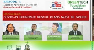DISCUSSION ON: Covid 19 Economic Rescue Plans must be Green!     Episode 1