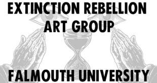 Extinction Rebellion Arts Group at the Illustration Open Forum, Falmouth, UK.