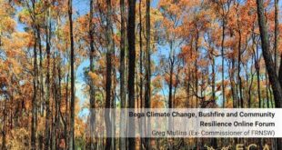 Greg Mullins - Bega and South Coast Climate Change, Bushfires and Community Resilience Forum