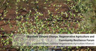 Lorraine Gordon - Gippsland Climate Change, Regenerative Agriculture and Community Resilience Forum