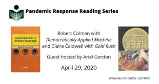 Pandemic Response Reading Series: Robert Colman and Claire Caldwell