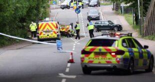 Police car carnage