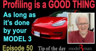 Profiling is a GOOD THING - when done by your Model 3! (Tip of the Day #50)