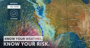 Severe Weather Update: low pressure system impacting Western Australia Current 9am AWST 24 May 2020