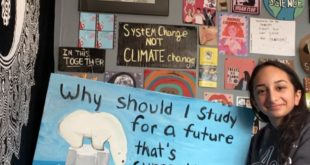 Throwback to my first climate strike, I carried this sign at a strike when Greta...