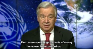UN chief on International Mother Earth Day 22 April