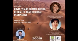 WEBINAR: COVID-19 AND CLIMATE ACTION - GLOBAL TO ARAB REGIONAL PERSPECTIVE
